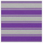 [ Thumbnail: Dark Gray & Indigo Colored Stripes Pattern Fabric ]