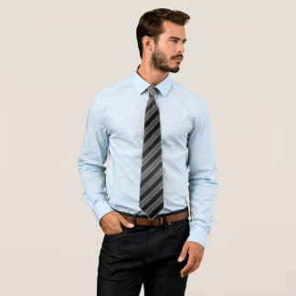 Dark Gray Large Striped Tie