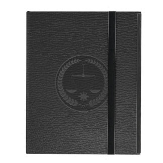 Dark Gray Leather Look Lawyer Or Justice Symbol iPad Covers