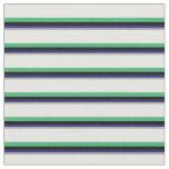 [ Thumbnail: Dark Gray, Midnight Blue, Black, Sea Green & White Fabric ]