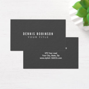 Generic business cards templates zazzle dark gray modern generic simple masculine personal business card fbccfo Choice Image