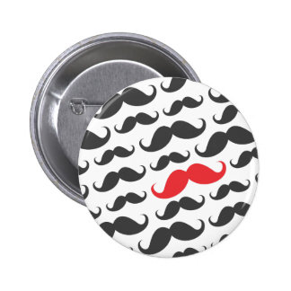 Dark gray mustache pattern with one red moustache pins