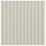 [ Thumbnail: Dark Gray & Pale Goldenrod Lined/Striped Pattern Fabric ]