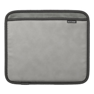 Dark Gray Parchment Texture Background iPad Sleeve