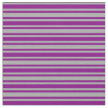 [ Thumbnail: Dark Gray & Purple Colored Striped/Lined Pattern Fabric ]
