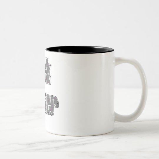 Dark Gray Skull Geek 4ever Two-Tone Coffee Mug