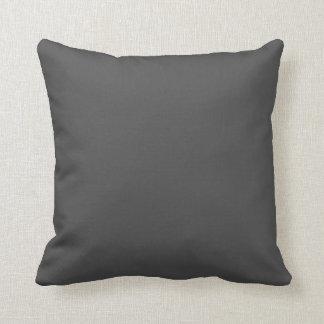 dark gray throw pillow
