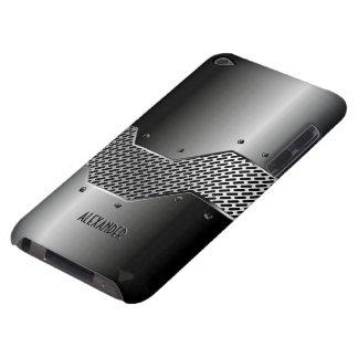 Dark Gray Tones Shiny Metallic Look Barely There iPod Case