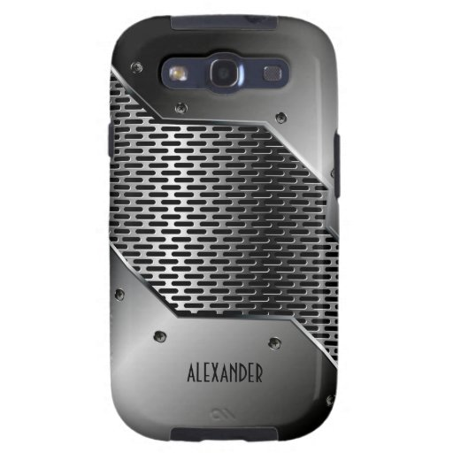Dark Gray Tones Shiny Metallic Look Galaxy SIII Cases
