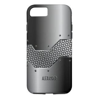 Dark Gray Tones Shiny Metallic Look iPhone 8/7 Case