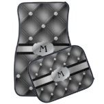 Dark Gray Tufted Personalized Monogram Car Mats