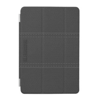 Dark Gray Vintage Worn-Out Faux Leather Look iPad Mini Cover