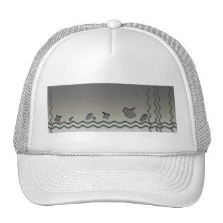 Dark Gray Waves. Abstract Design. Trucker Hat