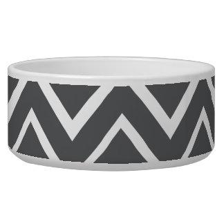 Dark gray whimsical zigzag chevron pattern bowl