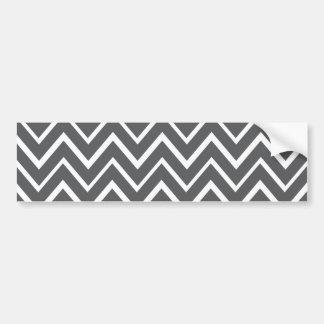Dark gray whimsical zigzag chevron pattern bumper sticker