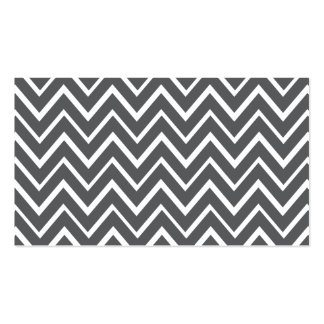 Dark gray whimsical zigzag chevron pattern Double-Sided standard business cards (Pack of 100)