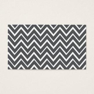 Dark gray whimsical zigzag chevron pattern business card