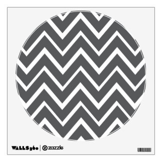 Dark gray whimsical zigzag chevron pattern wall sticker
