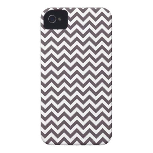 Dark Gray White Chevron Pattern iPhone 4 Cover