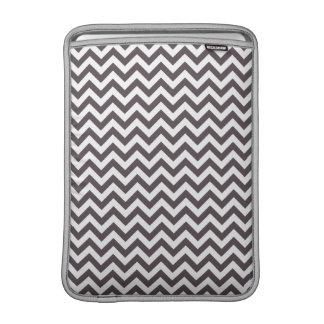Dark Gray White Chevron Pattern MacBook Air Sleeves