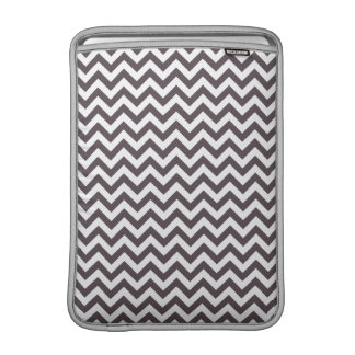 Dark Gray White Chevron Pattern MacBook Sleeve