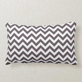 Dark Gray White Chevron Pattern Pillow