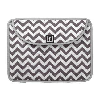 Dark Gray White Chevron Pattern Sleeve For MacBook Pro