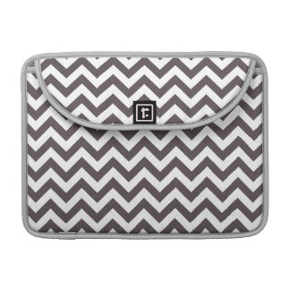 Dark Gray White Chevron Pattern Sleeve For MacBooks