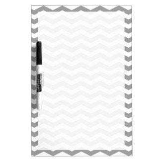 Dark Gray White Chevron Zig-Zag Pattern Tn Dry-Erase Whiteboards