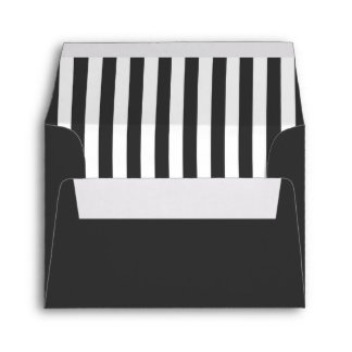 Dark Gray & White Envelope w/ Pre-Printed Address Envelope