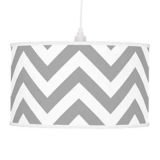 Dark Gray White Large Chevron ZigZag Pattern Ceiling Lamp