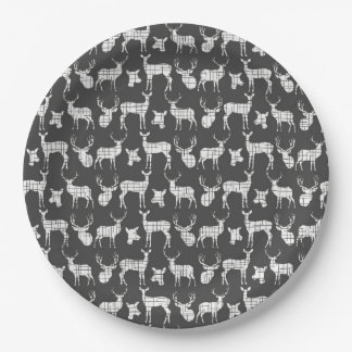 Dark Gray With White Deer Paper Plates  sc 1 st  Zazzle & Gray And White Plates | Zazzle