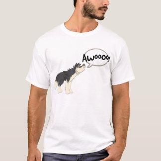 Dark Gray Wolf Howling T-Shirt