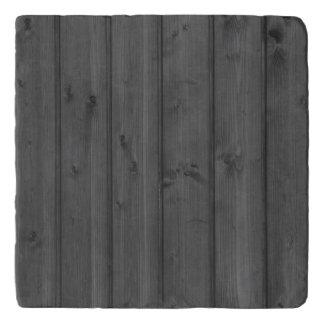 Dark Gray Wood Texture Trivet