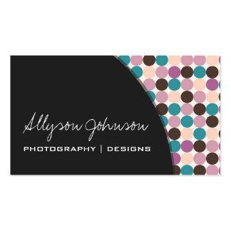 Dark GrayPurple, Brown, Blue  Dots Business Cards