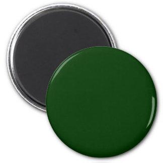 Dark Green 2 Inch Round Magnet