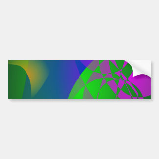 Dark Green Abstract Painting Bumper Stickers