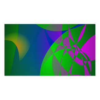 Dark Green Abstract Painting Business Card Template