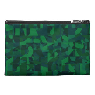 Dark Green Abstract Pattern. Travel Accessories Bag