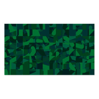 Dark Green Abstract Pattern. Business Card Templates