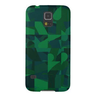 Dark Green Abstract Pattern. Case For Galaxy S5