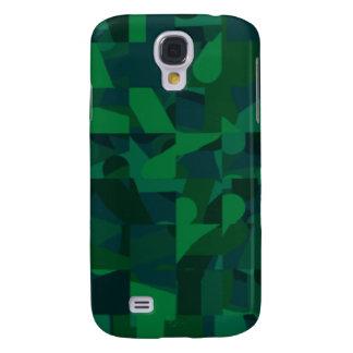 Dark Green Abstract Pattern. Galaxy S4 Case