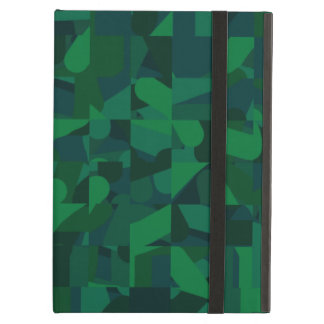 Dark Green Abstract Pattern. iPad Air Case