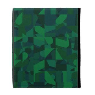 Dark Green Abstract Pattern. iPad Cases