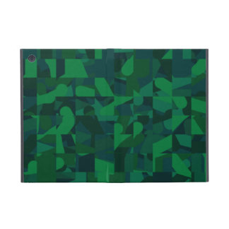 Dark Green Abstract Pattern. iPad Mini Case