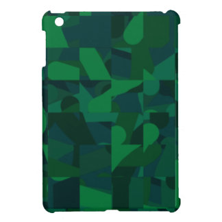 Dark Green Abstract Pattern. iPad Mini Covers