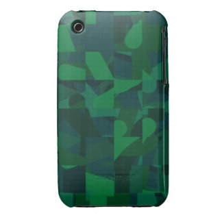 Dark Green Abstract Pattern. iPhone 3 Cases