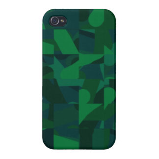 Dark Green Abstract Pattern. iPhone 4/4S Cases