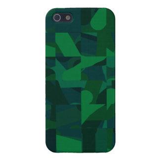 Dark Green Abstract Pattern. iPhone 5 Case
