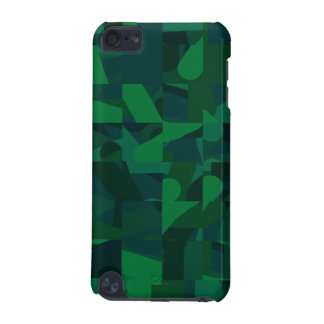 Dark Green Abstract Pattern. iPod Touch 5G Case